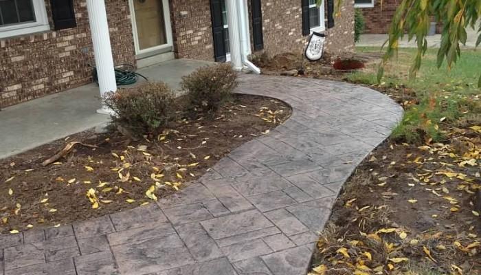 residential concrete sidewalk
