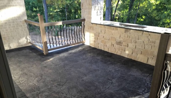 decorative stamped concrete porch