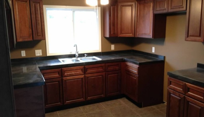 residential decorative concrete countertop
